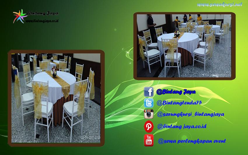 meja dan kursi tifany