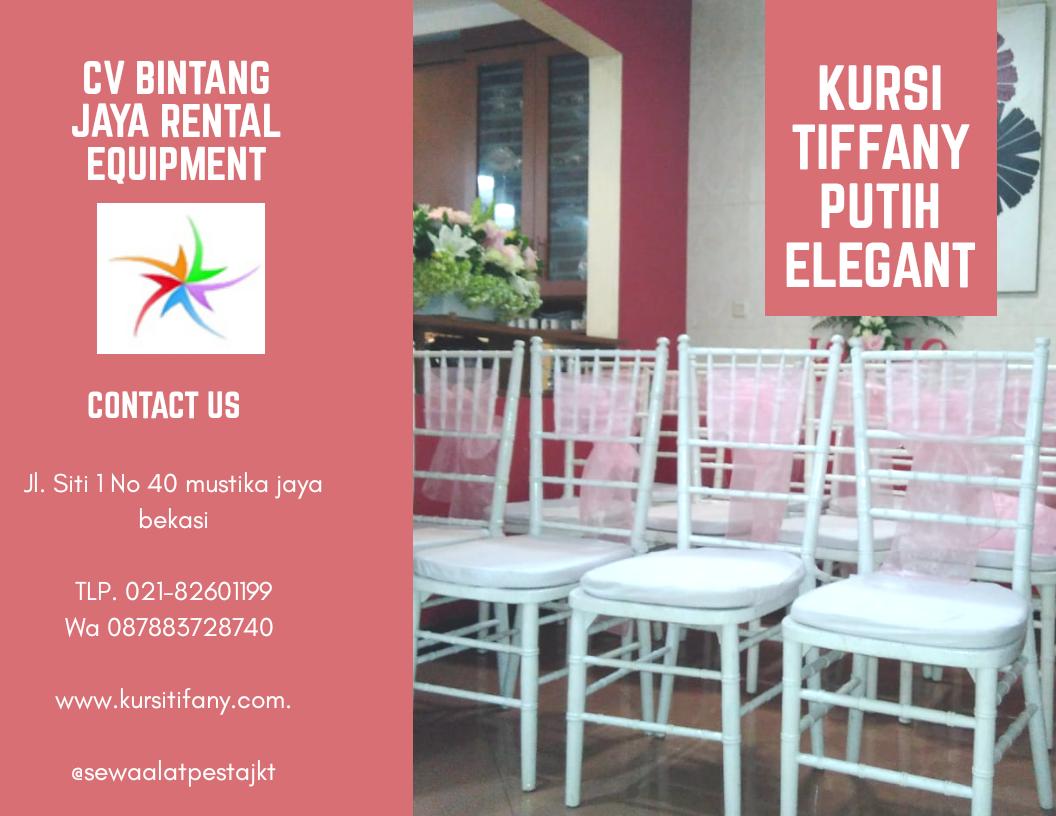 Rental Kursi Tiffany 24 Jam