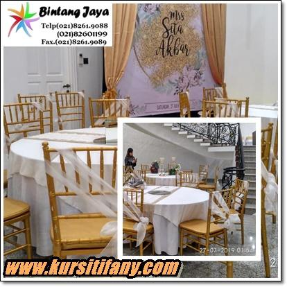 Rental Kursi Tiffany Cilandak Jakarta Selatan
