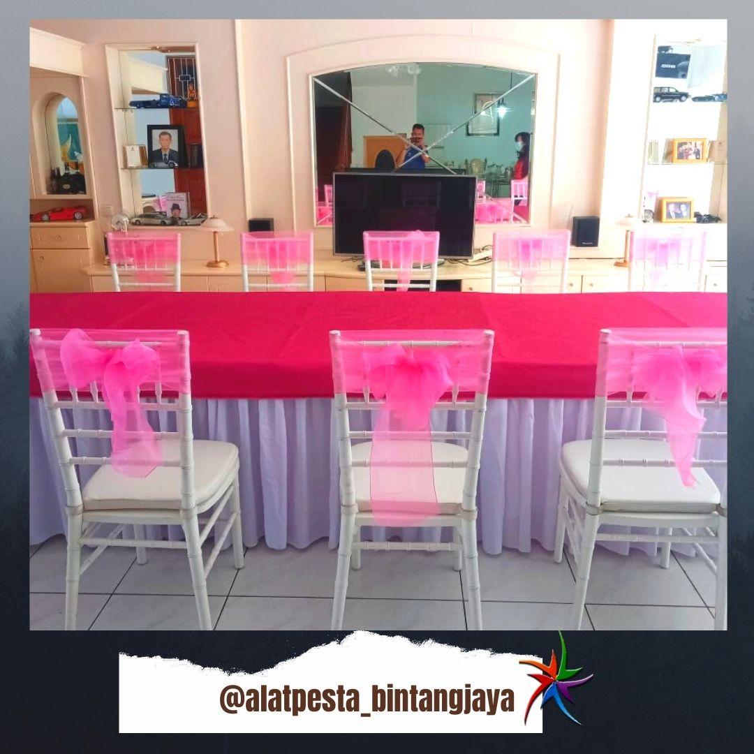 Melayani Sewa Kursi Tiffany Include Pita Promo Jabodetabek